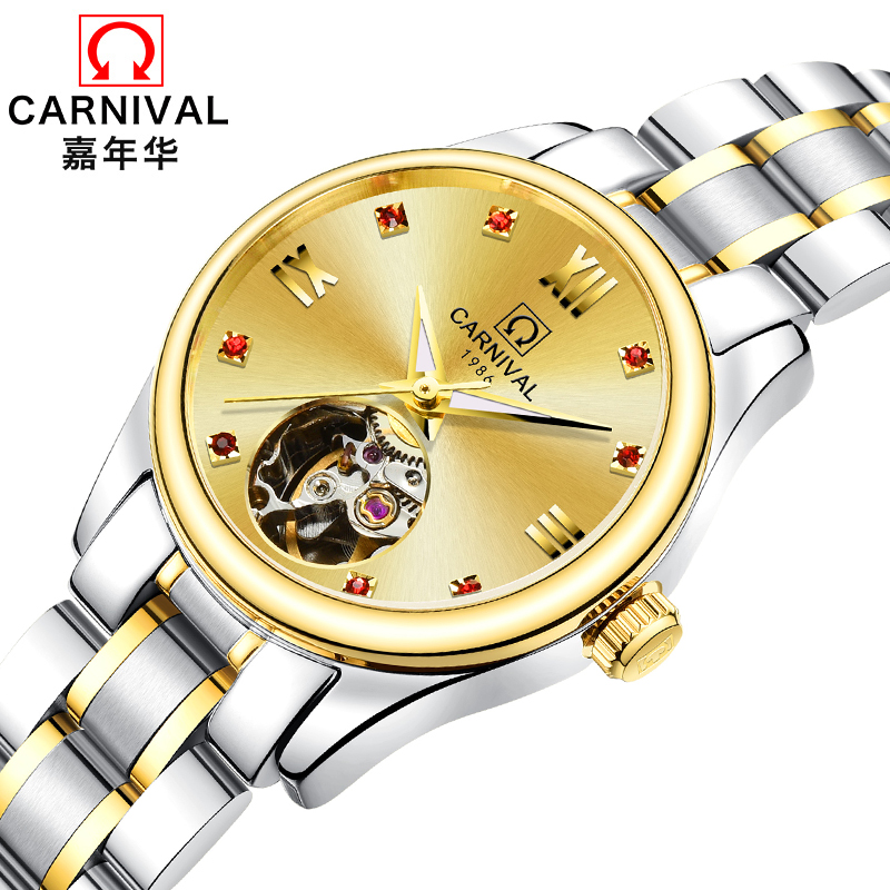 Luxury Brand Carnival Women Watches ladies Automatic Mechanical Watch Women Sapphire Waterproof relogio feminino Clock C8789L-5 luxury brand carnival women watches ladies automatic mechanical watch women sapphire waterproof relogio feminino clock c8789l 2