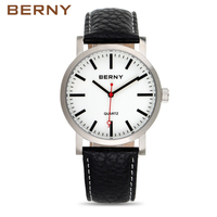 2017 Mens Watches Top Brand Luxury Cowhide Leather Quartz Wristwatch Fashion Casual Waterproof Watch For Men