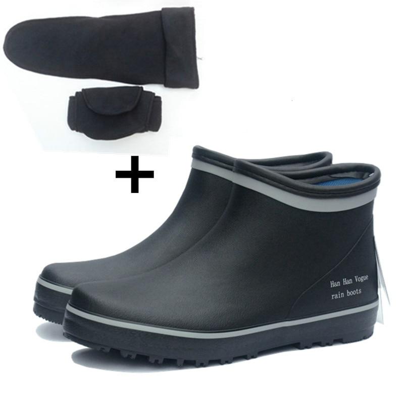 Prova Dos Galochas Tubo Bot black Curto Chuva 02 Rainboots Tornozelo Botas Borracha Masculino Pesca À Black Homens Baixo 01 De D' Água ExfwwT6qC