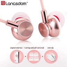 Langsdom M430 In Ear Metallo Auricolari Super Bass Stereo Cuffie Auricolari con Microfono 3.5mm Auricolari per il Telefono Mobile MP3