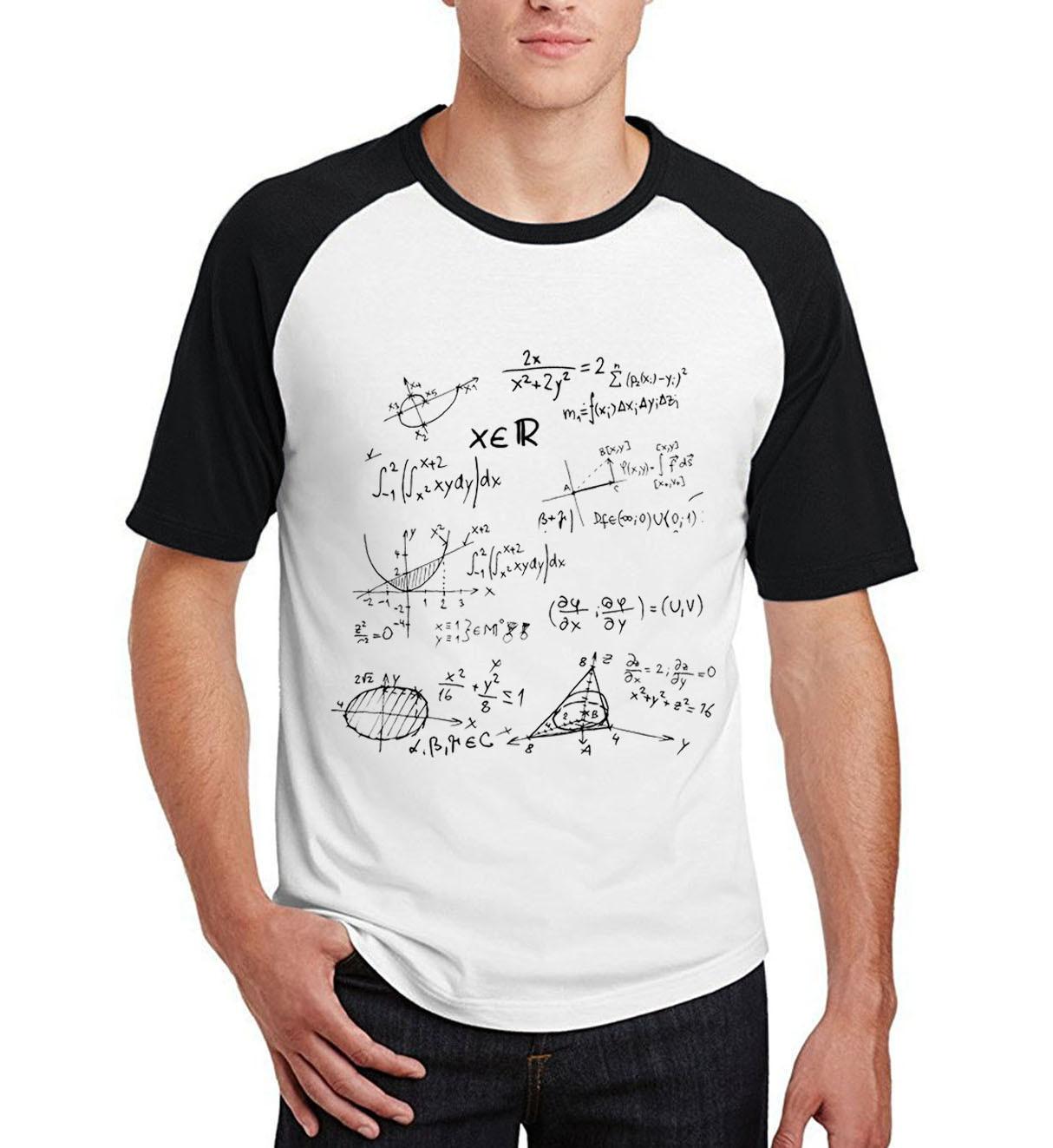2019 summer Mathematical formula camisetas men casual hip-hop cotton t shirt hipster raglan short sleeve Big Bang Theory clothes