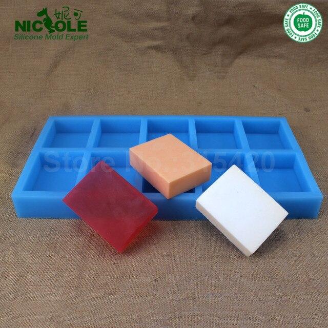 Nicole Square Shaped Silicone Soap Molds Bar