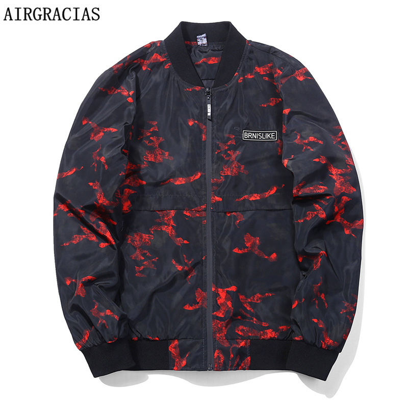 AIRGRACIAS 가을 남성 위장 아웃웨어 의류 재킷 경량 오버코트 포켓 캐주얼 코트 2 색 미국 / EU 크기 M-3XL