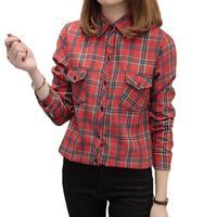 Fleece Warm Women S Plaid Shirt 2017 Autumn Winter Women S Long Sleeved Casual Shirt Women