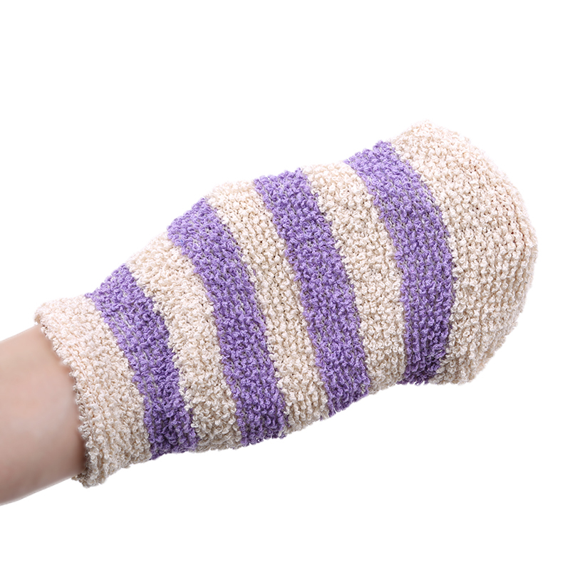 1pc Shower Gloves Exfoliating Wash Skin Spa Bath Gloves