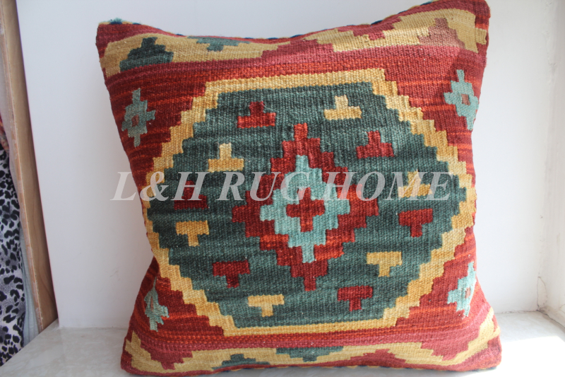 Free Shipping 45x45cm (18x18) handmade Kilim Woolen pillow, Turkish pillow cushion, Romantic exotic style, NO INSERTION