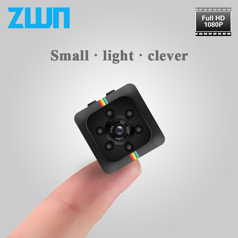 ZWN SQ11 Mini Camera HD 1080P Night Vision Car DVR Outdoor Video Recorder Sport Digital Micro Camera Support voice small Cam