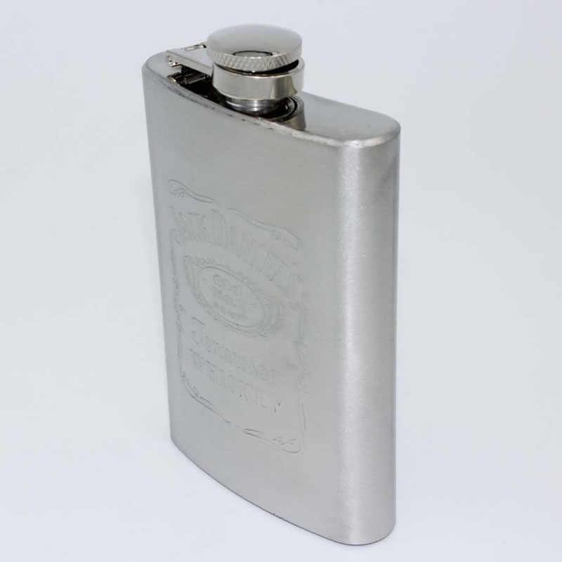 ファッションリークプルーフポータブルステンレス鋼4オンスポケットヒップフラスコアルコールウイスキー酒スクリューキャップドリンク屋外キャンプボトル