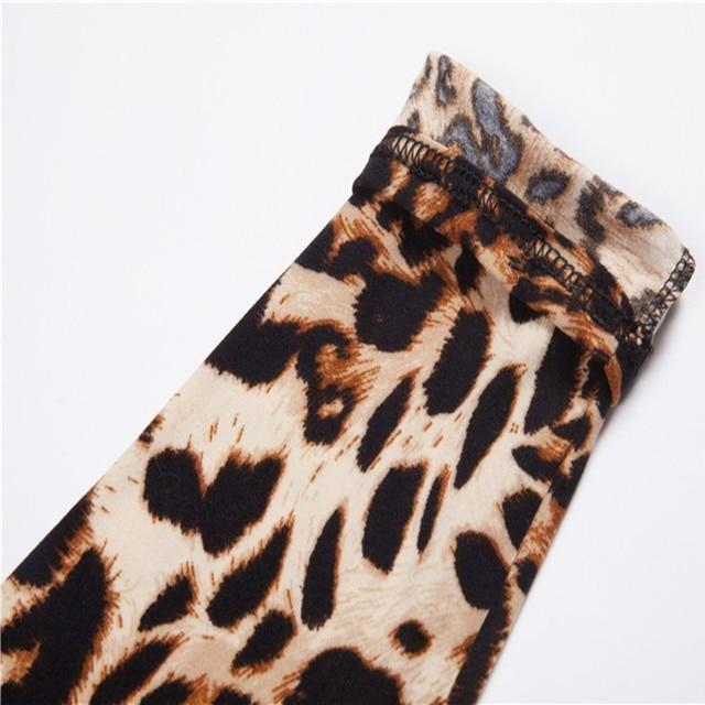 Summer New Fashion Euramerican Gothic Black Milk Leopard Leggings Punk Rock Style Sexy Leggings Pants For Women 4