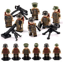 6 PZ scorching suitable LegoINGlys Military mini Warfare figures Army self armed forces with weapons weapons Building blocks toys present