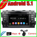 7''Quad Núcleo Android 5.1 Do GPS Do Carro Para Kia MOHAVE/BORREGO 2008-Com Stereo Radio Multimedia 16 GB Flash Ligação Espelho Livre grátis
