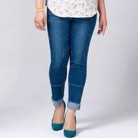 Plus Size 7XL High Waist Jeans Women Harem Pants Ankle Length Pants Boyfriend For Woman Skinny