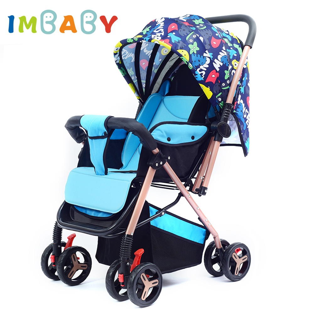IMBABY Foldable Baby Stroller Prams For Newborns Light Luxury Baby Stroller Carriages Travel System Infant Stroller Bassinet imbaby luxury baby stroller carriages high landscape baby prams with music player for newborns baby carriages for children
