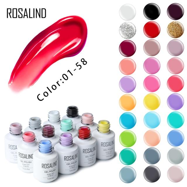 ROSALIND Gel esmalte de uñas Set para manicura barniz acrílico híbrido uñas arte Semi permanente UV Gel esmalte de uñas de Gellak la capa superior