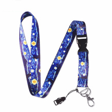 Aokin нашейные Ремешки ремешок для ключей ID карты модные телефонные ремни Keycord Nekband USB бейдж держатель DIY веревка