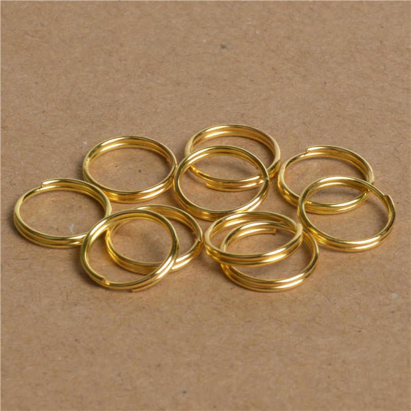 200 ชิ้น/ล็อต 4/5/6/8/10 มิลลิเมตรทองเงินบรอนซ์สีคู่แหวนกระโดด & แยกแหวนสำหรับเครื่องประดับทำหา DIY Craft อุปกรณ์เสริม