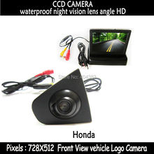 4.3 inch  Foldable Color LCD MonitorHD CCD auto Vehicle car Front view camera 170 degree waterproof For Honda Accord CRV Odyssey