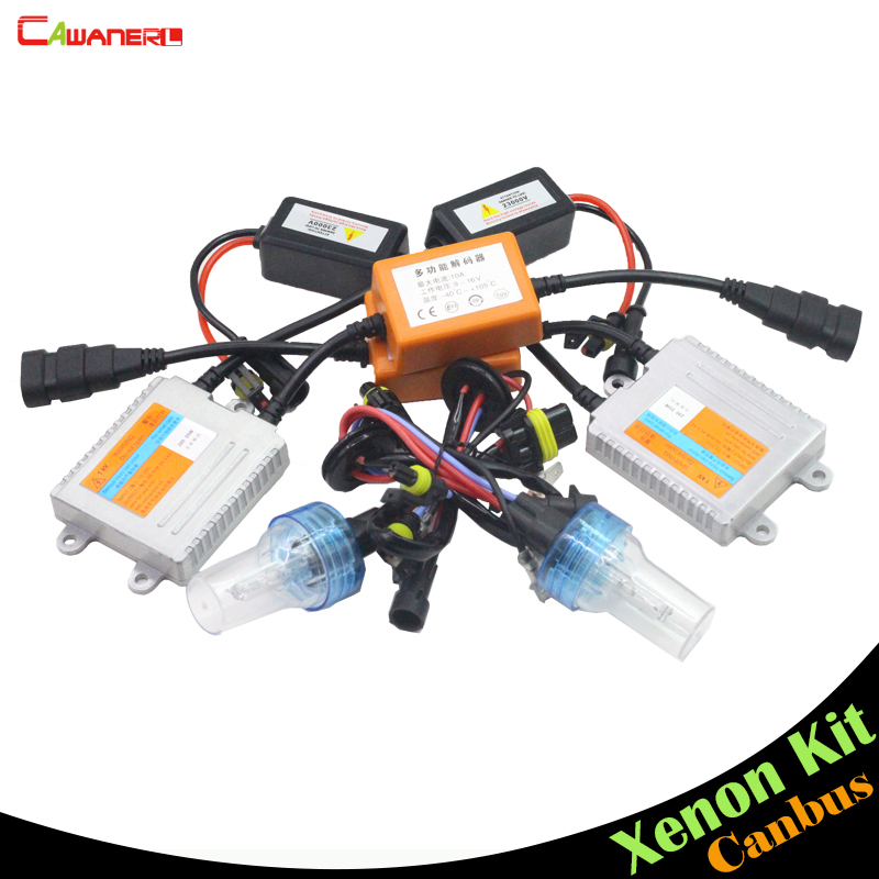 Cawanerl 55W 9006 HB4 Canbus HID Kit AC Xenon Headlamp No Error Ballast Bulb 3000K 4300K 6000K 8000K Car Headlight Fog Lamp DRL
