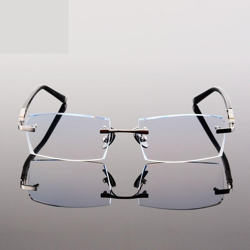 Frameless gafas oro gafas marcos para hombres gafas sin montura ...