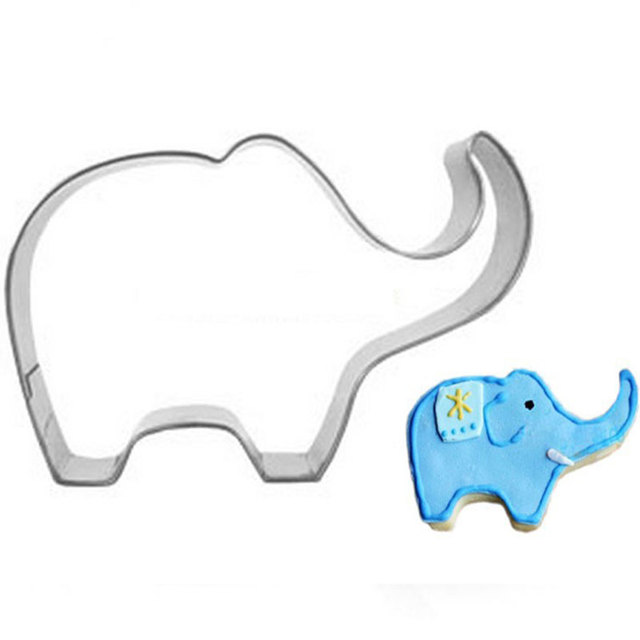 10pcs/lot Cookie Cutters Elephant Shaped Stainless Steel Wedding Cake  Baking Animals Cookie Molds Biscuit