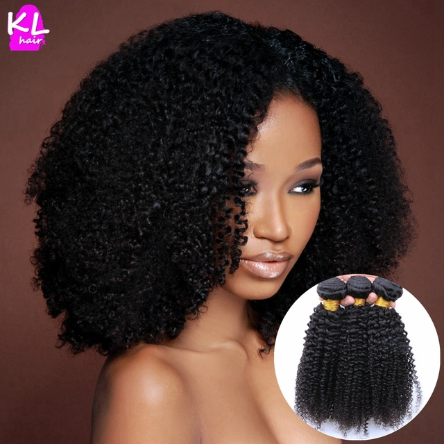 Brazilian Virgin Hair Kinky Curly Human Hair 8A Grade Afro Kinky Curly  Virgin Hair 3 Bundles ea4b94d7b