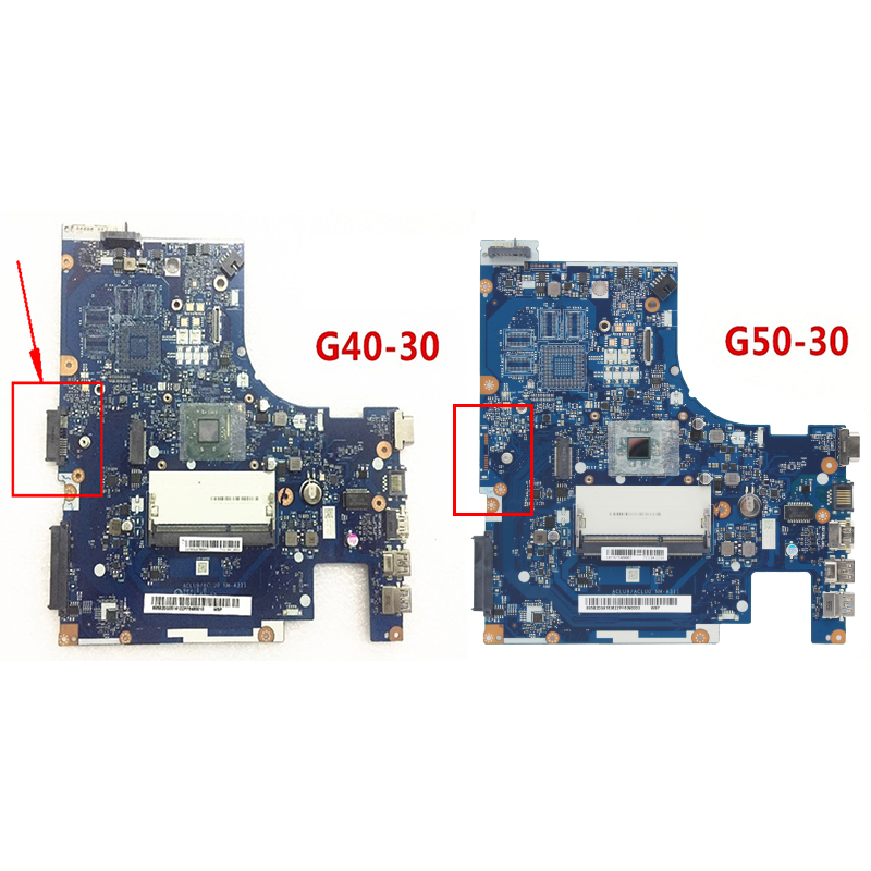new Original  For Lenovo G40-30 G40 laptop motherboard with Intel N3530 CPU DDR3 ACLU9/ACLU0 NM-A311 REV:1.0 100% fully Tested 1