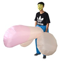 Adult Halloween Mascot Costume for Men Women Sexy Inflatable Penis Costume Costumes Dick Jumpsuit Funny Cosplay Dress