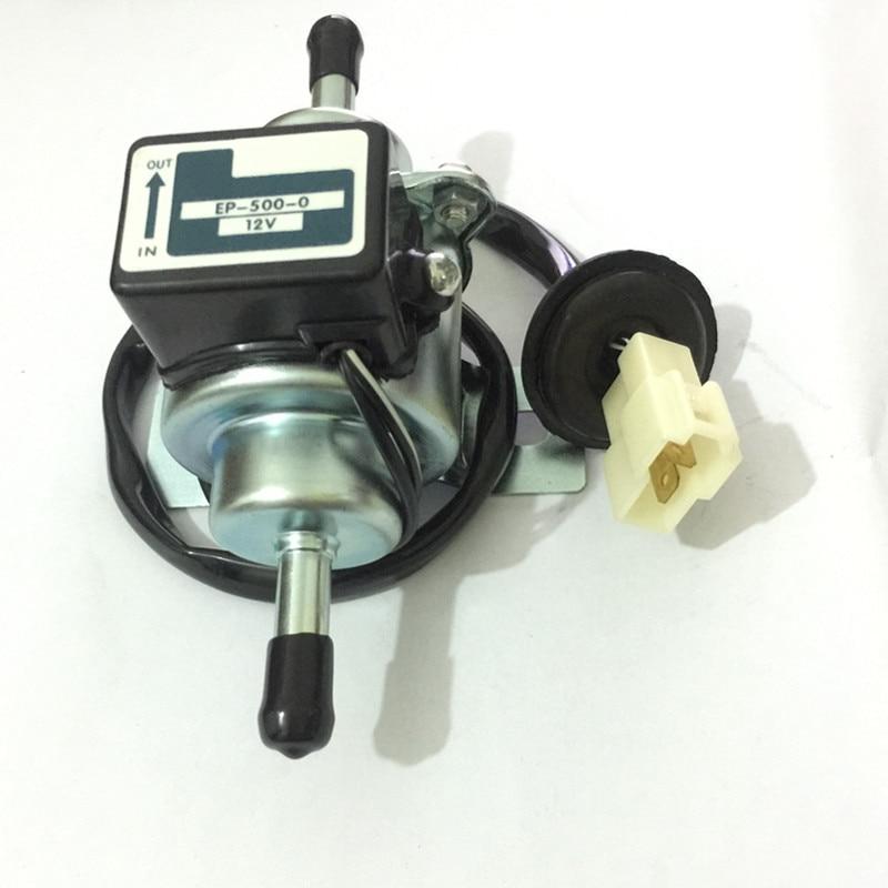 Ep 500 0 12v Universal Car Boat Fuel Pump Metal Solid