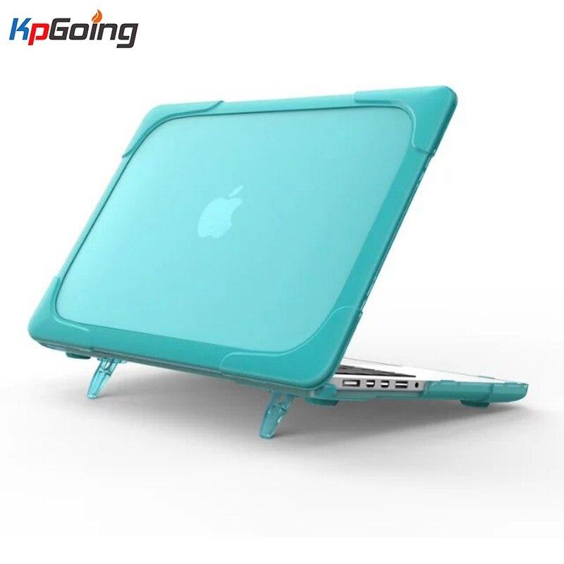 Lujo de plástico duro + soft tpu casos del ordenador portátil para Macbook Pro Retina 13 pulgadas contraportada caso del color sólido de la manera fundas