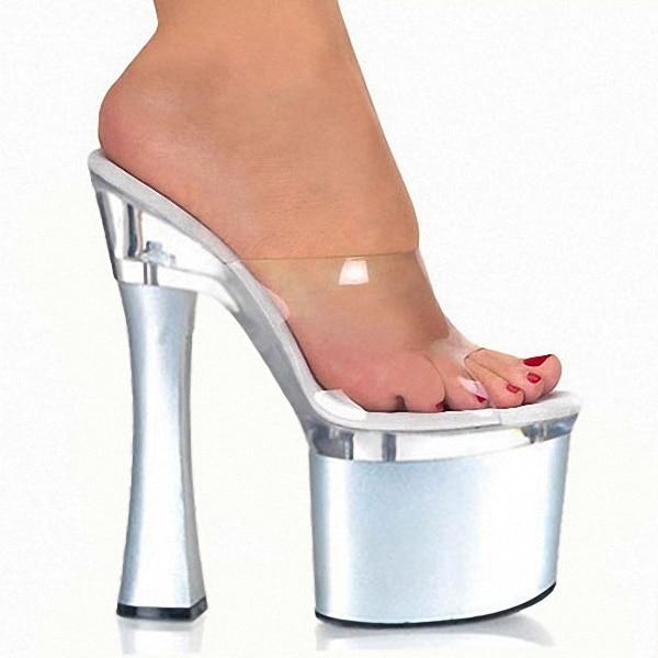 Pantoufles Cristal Gros En Sexy Bouche À Club Poissons Transparent Sandales Chaussures Talons Coloré Cendrillon Femelle Hauts qPvRxxSw