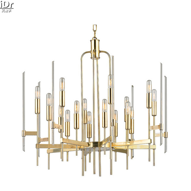 American Iron Vintage Lamp Restaurant Bedroom Villa Living Room Lights Clothing Gold Chandeliers Lmy 0229
