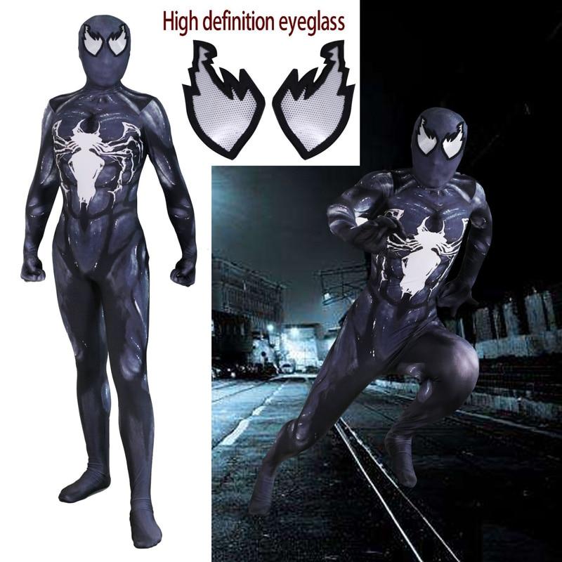 Adult Lycra Amazing SpiderMan Venom Symbiote 3D Print Jumpsuit Costume Cosplay