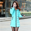 Wadded Jacket Female 2017 New Women's Winter Jacket Cotton Padded Jacket Slim Parkas Ladies Coat Plus Size M-XXXL C1263