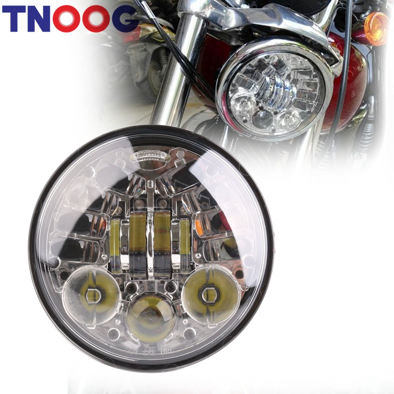 5-3/4 Round Headlamp Harley Dyna Sportster 1200 48 883 Parts Turn Signal Light Daymaker 5.75 Inch Projector LED Moto Headlight