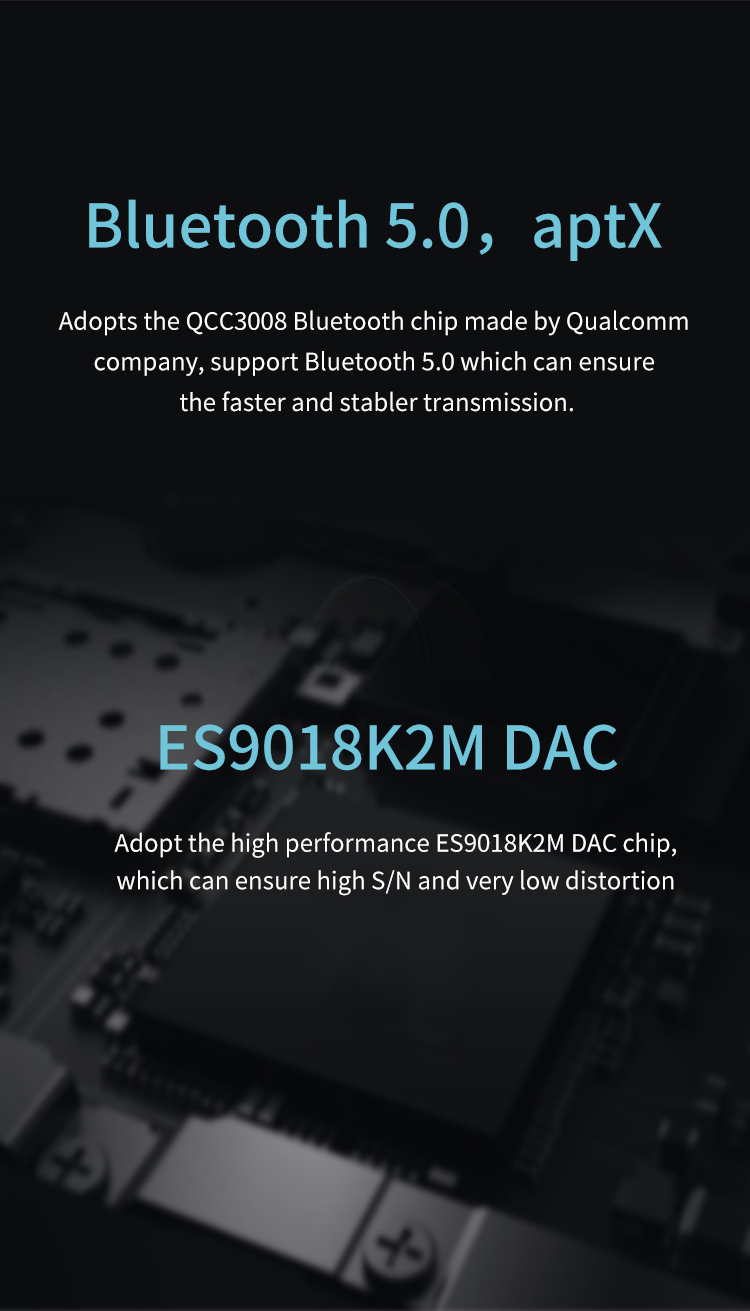 XDUOO XQ-25 Original Portable Bluetooth 5.0 aptX Headphone Amplifier_02