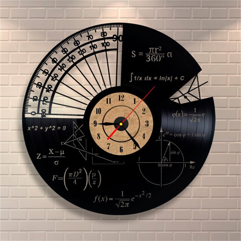Online get cheap math clock alibaba group for Vinyl records decorations for wall