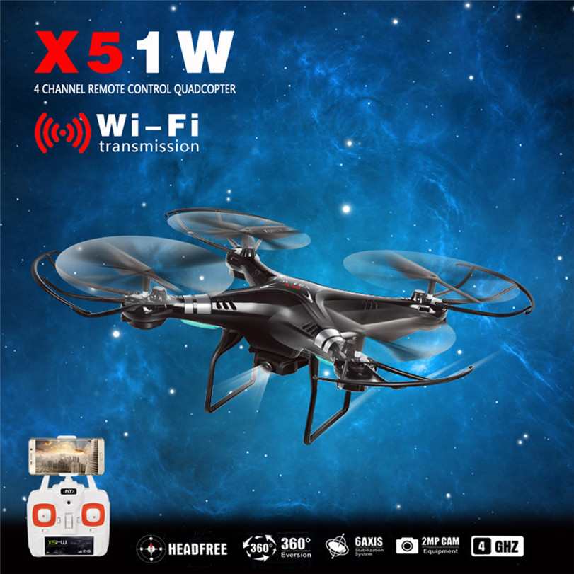 Hot hot X51W 2.4G Altitude Hold HD Camera Quadcopter RC Drone 2MP WiFi FPV Drone Hover baby Favorite gift jjrc h12wh wifi fpv with 2mp camera headless mode air press altitude hold rc quadcopter rtf 2 4ghz