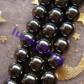 wholesale 3strings/lot AAA 6mm regular black Hematite round Loose Beads