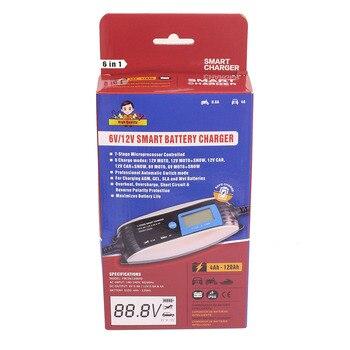 Chargeur De Batterie 6v | 6V 12V 0.8A 4A Moto Chargeur De Batterie Automatique 7 Phases Intelligent étanche EFB GEL AGM Chargeur De Batterie De Voiture Humide