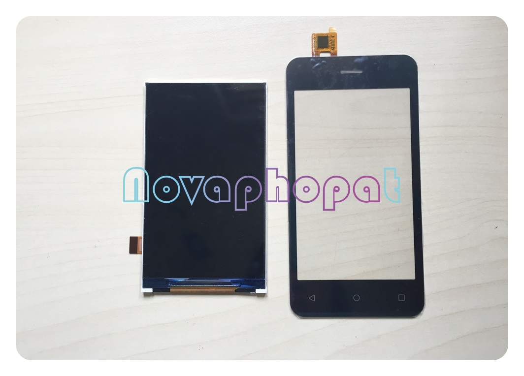 100% tested For Fly FS406 FS401 FS404 FS407 FS454 IQ436i LCD Display Screen + Touch Screen Digitizer Sensor +track image