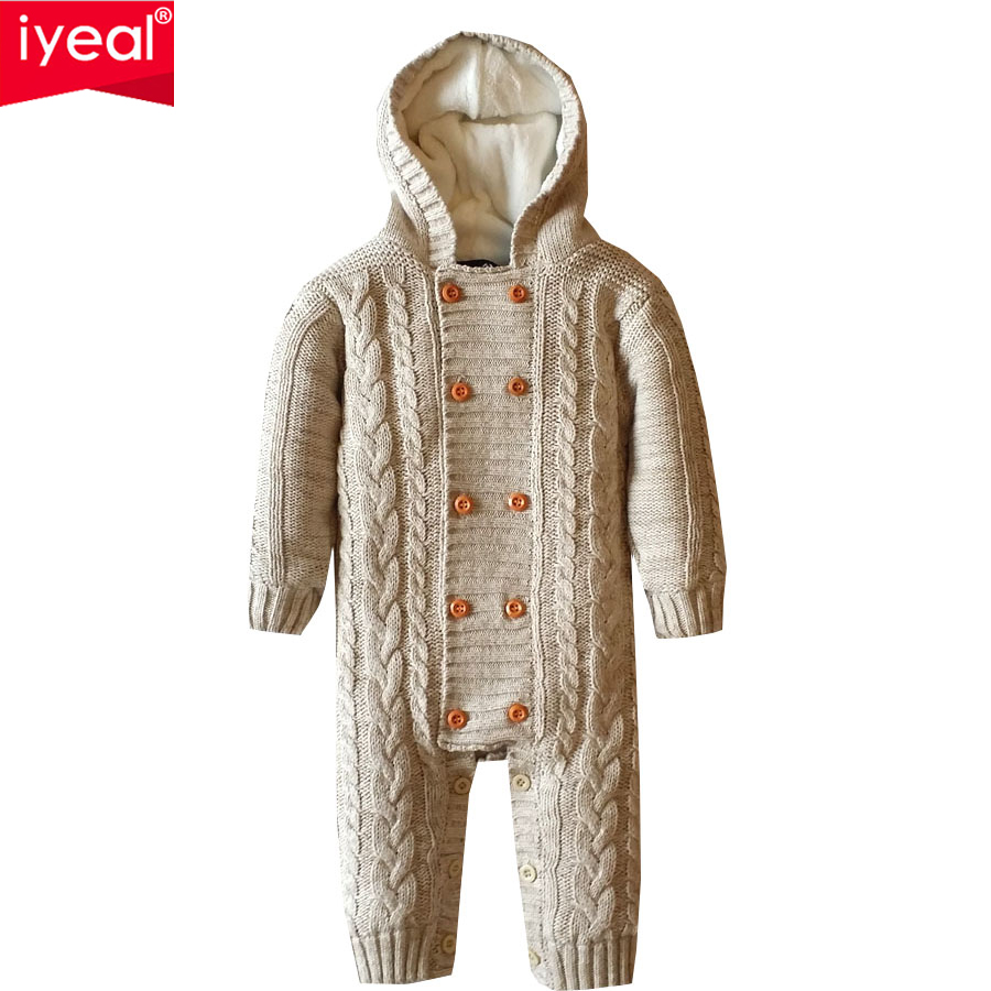Iyeal Thick Warm Infant Baby Rompers Winter Clothes