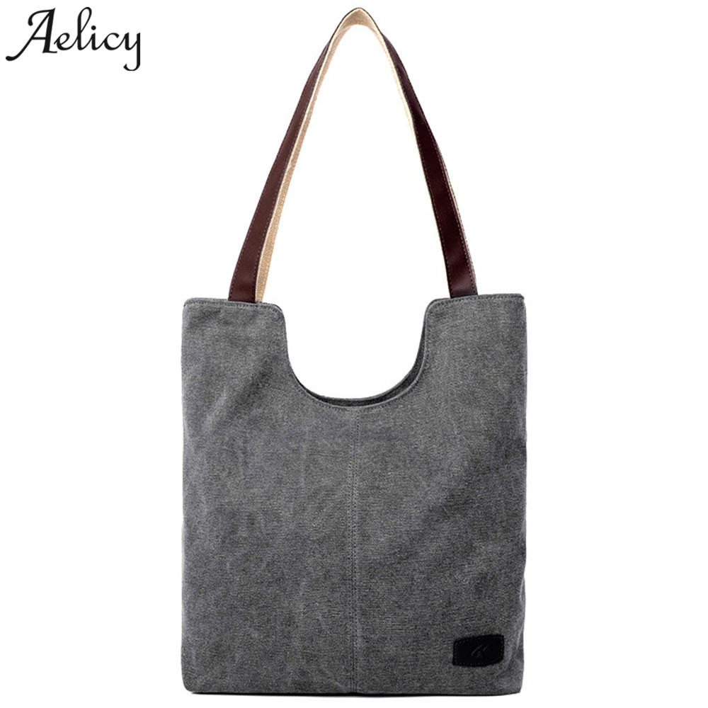 Aelicy women's handbags totes shoulder bags high quality canvas shoulder bag vintage for women lady bags famous brand sac a main цена 2017