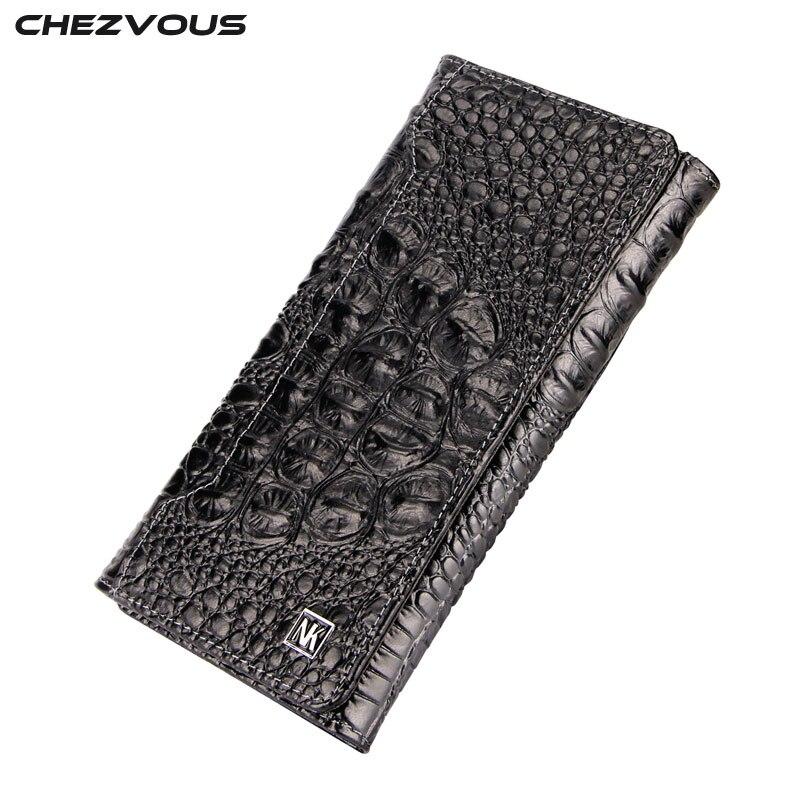 CHEZVOUS De Luxe En Cuir De Vachette étui pour samsung Galaxy Note 8 Étui Portefeuille Coque Avec porte-carte Couverture Motif Crocodile Cas