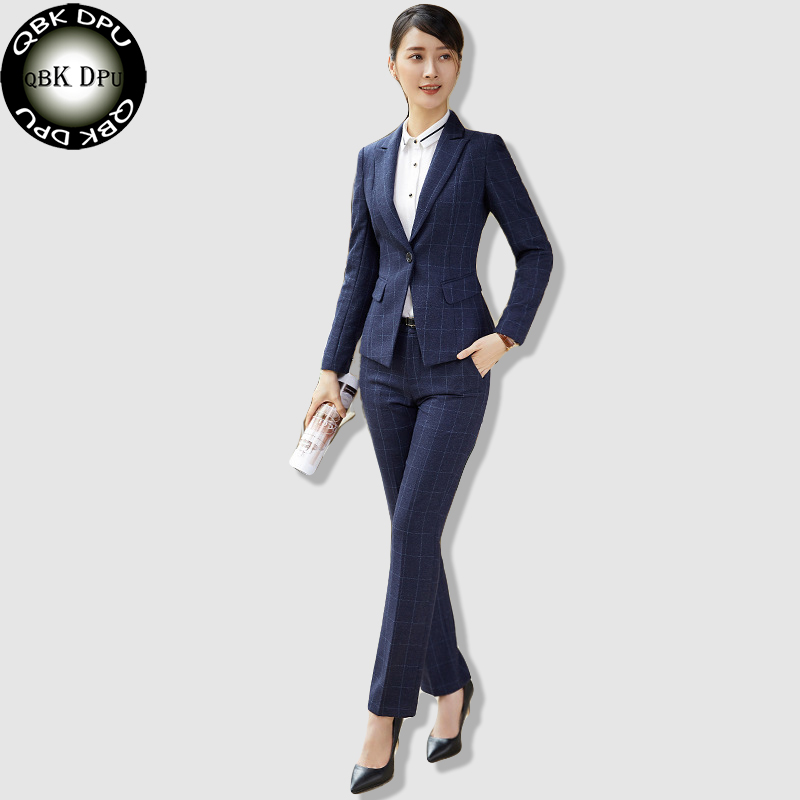 qbkdpu brands business attire work wear women 39 s plaid suit long sleeve one buttons blazer. Black Bedroom Furniture Sets. Home Design Ideas