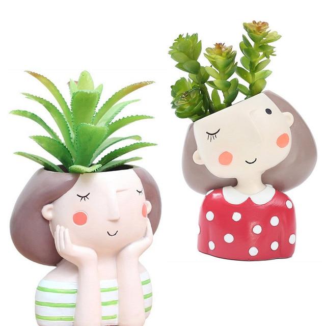 1pc wholesale Flowerpot Home Garden Mini Bonsai Cactus Planter Pots Succulent Plant Flower Pot Wedding Birthday Gift Ideas