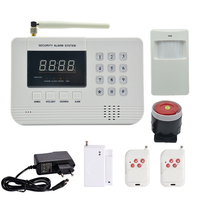 1 Set Home Security 433MHz SIM GSM PSTN Dual Network Alarm System PIR Detector Door