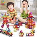 46 unids/109 unids modelo de construcción diy 3d bloques de construcción magnética magnética diseñador de aprendizaje y juguetes educativos
