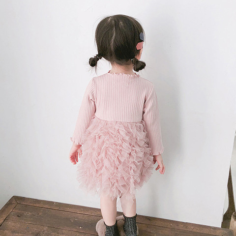 MUQGEW Baby Kids Girls Clothes Knit Bow Tulle Princess Tutu Ball Gown Party Dress Clothes New born Baby Clothes Dress Islamabad