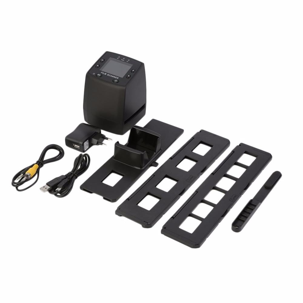 Hohe Auflösung Scanner Digital Wandelt USB Negative Rutschen Foto Scan Tragbare Digitale Konverter 2,4 Zoll LCD