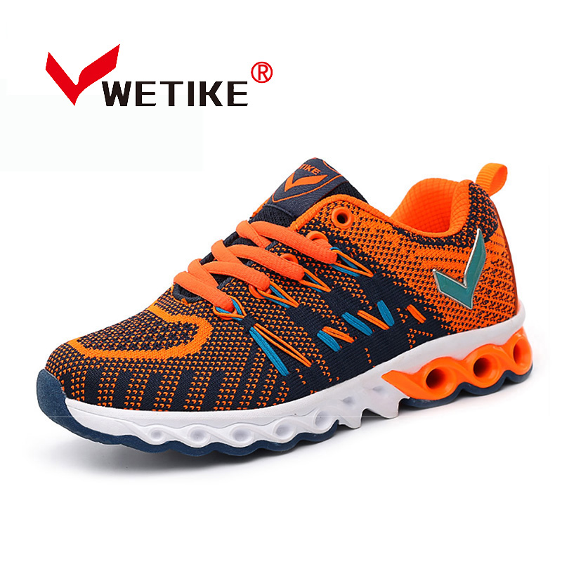 WETIKE Boys Girls Running Shoes Breathable Mesh Outdoor Sports Shoes For Kids Children s Sneakers Lightweight